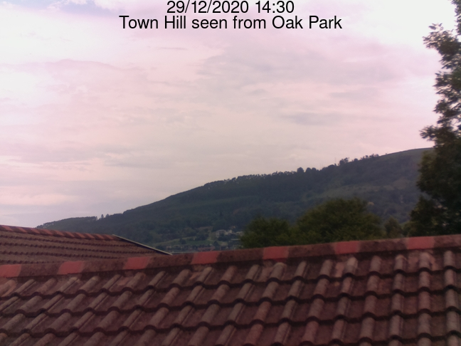 Rasberry Pi cam view of Townhill from Oak Park